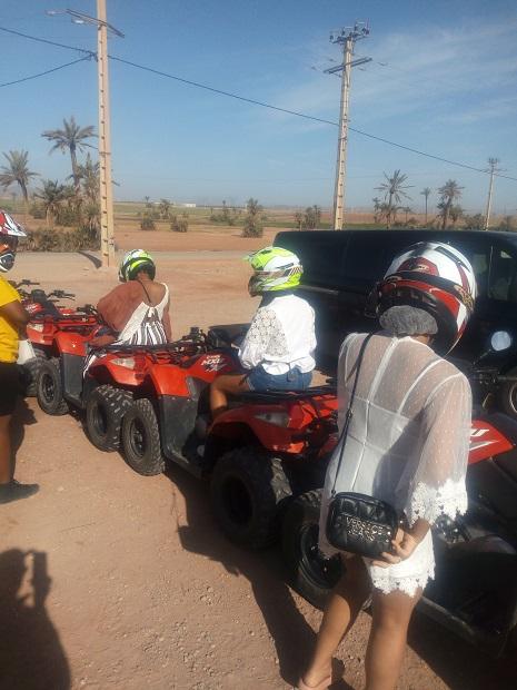 Balade en quad au palmeraie Marrakech