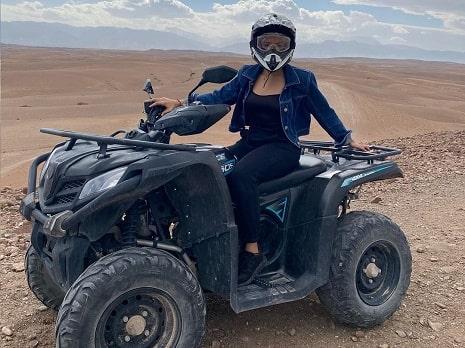 Balade en chameau et quad au desert Agafay