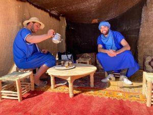Balade à dos de dromadaire au désert Agafay