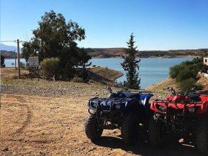 randonnée en quad lac takerkoust